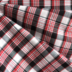 Shirting Plaid Red/Black/White - Sold Out - Style Maker Fabrics