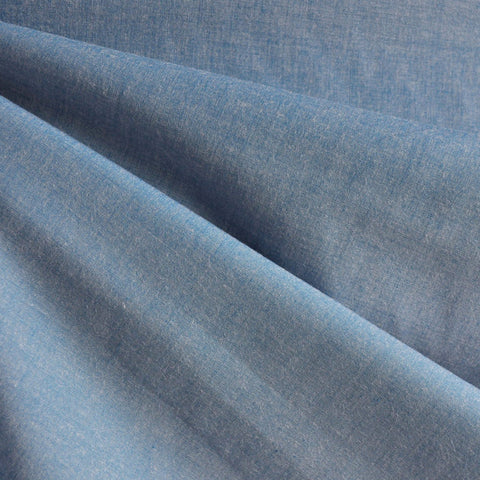 Japanese Selvage Tencel Shirting Light Blue
