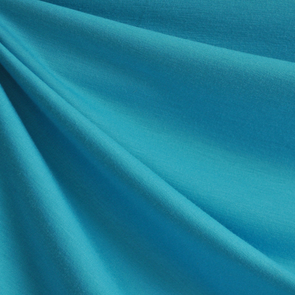 French Terry Solid Turquoise - Fabric - Style Maker Fabrics