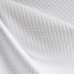 Diamond Quilted Double Knit Solid White - Sold Out - Style Maker Fabrics