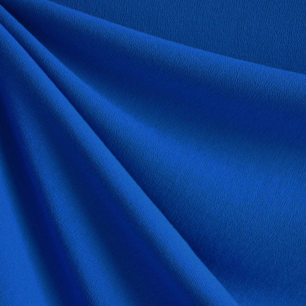 Rayon Crepe Solid Royal - Fabric - Style Maker Fabrics