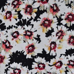 Texture Double Knit Daisy Black/Fuchsia - Sold Out - Style Maker Fabrics