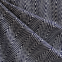 Rayon Crepe Chevron Navy/White - Sold Out - Style Maker Fabrics