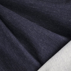 Reversible Governor Fleece Knit Navy/Cream SY - Sold Out - Style Maker Fabrics