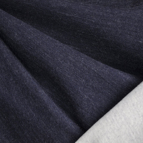 Reversible Governor Fleece Knit Navy/Cream