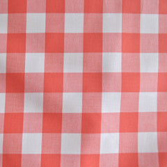Carolina Gingham Coral/White - Sold Out - Style Maker Fabrics