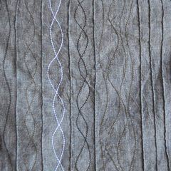 Embroidered Pintuck Chambray Charcoal SY - Sold Out - Style Maker Fabrics
