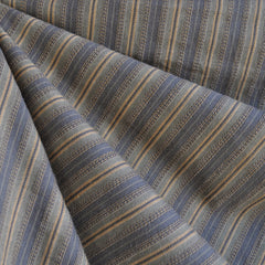 Homespun Stripe Cotton Shirting Slate - Fabric - Style Maker Fabrics