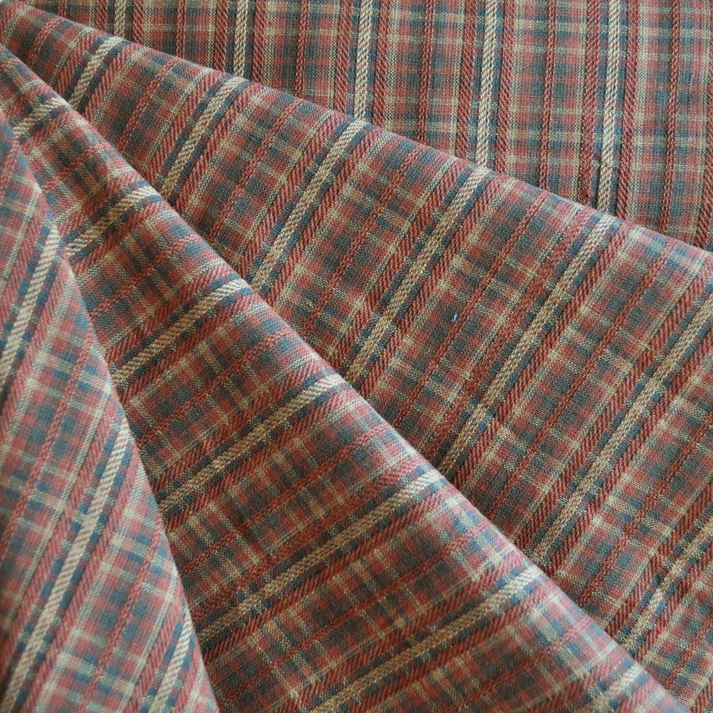 Homespun Plaid Cotton Shirting Autumn - Fabric - Style Maker Fabrics