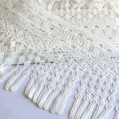 Art Deco Venise Fringe Lace Ivory 8-1/2 inch SY - Sold Out - Style Maker Fabrics