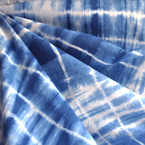 Shibori Cotton Lawn Blue
