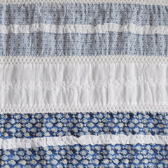 Vintage Summer Stripe Patchwork Denim Blue - Sold Out - Style Maker Fabrics