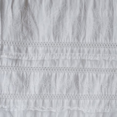 Vintage Summer Stripe Patchwork White - Fabric - Style Maker Fabrics