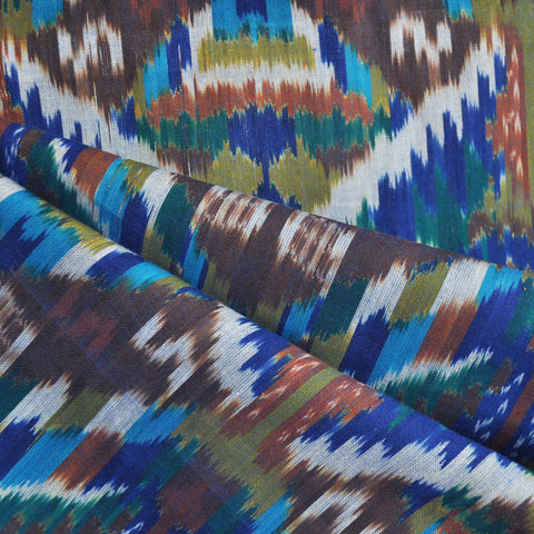 Medallion Ikat Shirting Multi