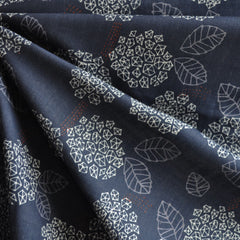 Japanese Double Gauze Modern Floral Navy - Sold Out - Style Maker Fabrics