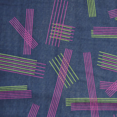 Japanese Double Parallels Navy/Plum/Green - Sold Out - Style Maker Fabrics