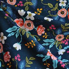 Les Fleurs Birch Floral Rayon Blue - Sold Out - Style Maker Fabrics