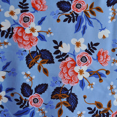 Les Fleurs Birch Floral Rayon Periwinkle - Sold Out - Style Maker Fabrics