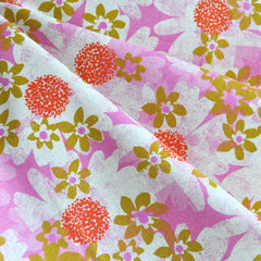 Trinket Daisy Fields Linen Blend Pink - Fabric - Style Maker Fabrics