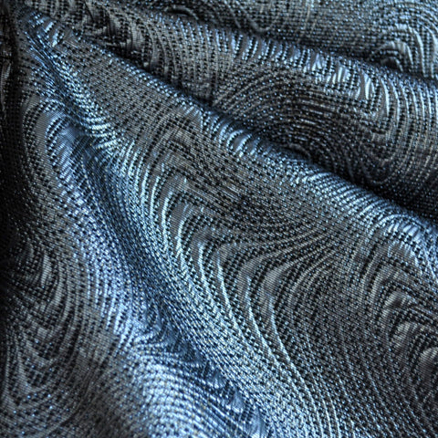 Metallic Wave Brocade Gunmetal