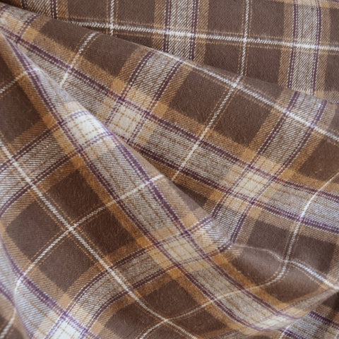 Cozy Cotton Flannel Brown/Natural