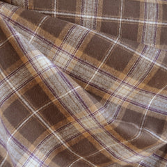 Cozy Cotton Flannel Brown/Natural - Fabric - Style Maker Fabrics