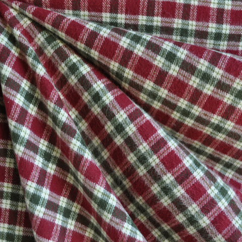 Cozy Cotton Flannel Burgundy/Olive