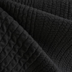 Italian Chunky Sweater Knit Black - Fabric - Style Maker Fabrics