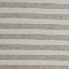 French Terry Stripe Flax/Vanilla SY - Sold Out - Style Maker Fabrics