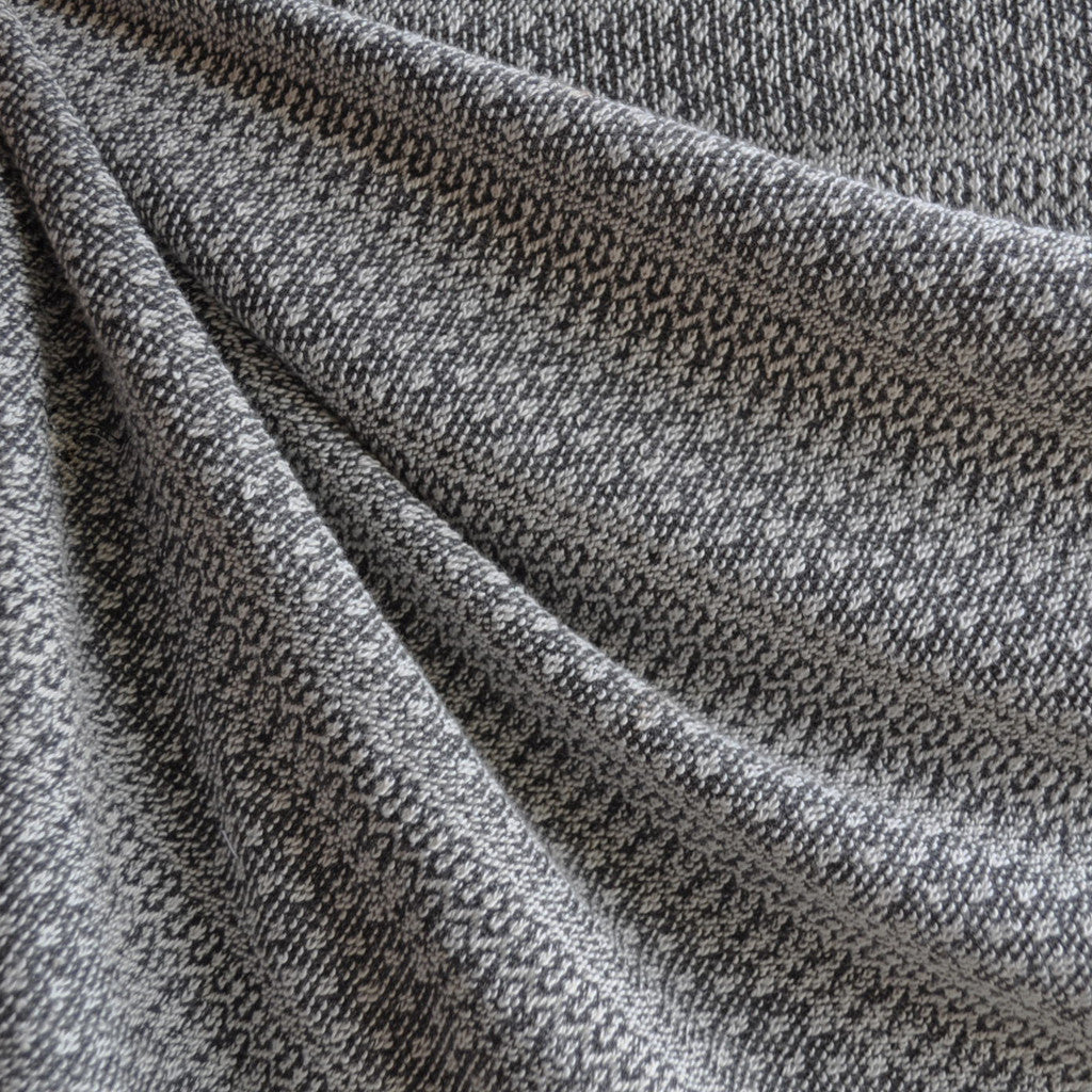 Japanese Knitted Jacquard Sweater Knit Grey SY | Style Maker Fabrics