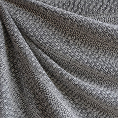 Japanese Knitted Jacquard Sweater Knit Grey - Fabric - Style Maker Fabrics
