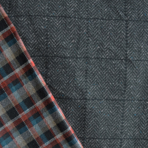 Reversible Corduroy/Plaid Shirting Autumn
