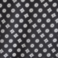 Button Print Polyester Sheer Black - Sale - Style Maker Fabrics