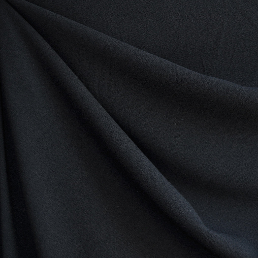 Rayon Crepe Solid Black - Sold Out - Style Maker Fabrics