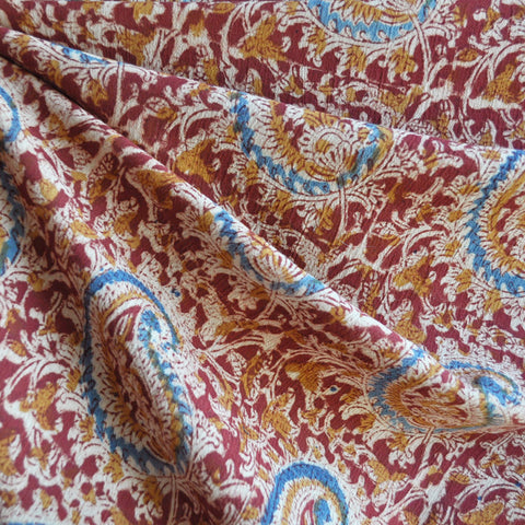 Paisley Cotton Gauze Wine/Rust