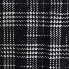 Houndstooth Plaid Double Knit Black/White - Sold Out - Style Maker Fabrics
