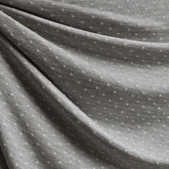 French Terry Dot Heather Grey/Vanilla - Sold Out - Style Maker Fabrics