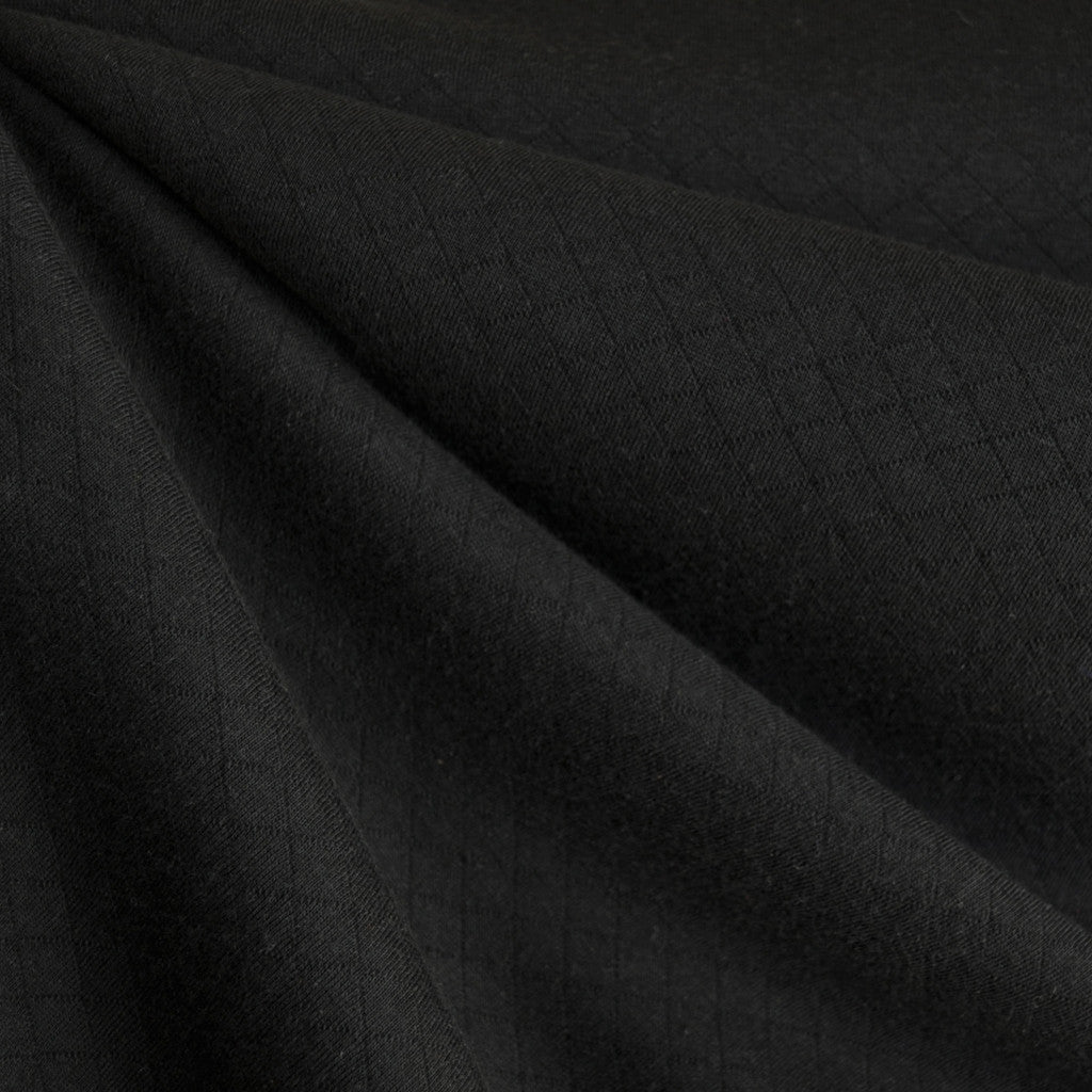 Cozy Quilted Knit Black - Fabric - Style Maker Fabrics