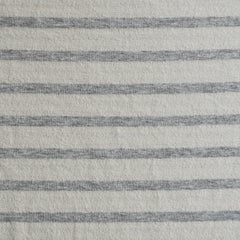 French Terry Heathered Stripe Grey/Vanilla - Fabric - Style Maker Fabrics