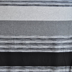 Wide Repeating Stripe Jersey Knit Black/Grey SY - Selvage Yard - Style Maker Fabrics