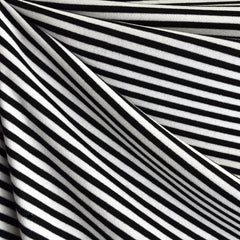 French Terry Bengal Stripe Black/White - Sold Out - Style Maker Fabrics
