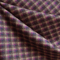 Argyle Stretch Wool Double Knit Plum/Brown SY - Sold Out - Style Maker Fabrics
