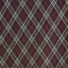 Argyle Plaid Double Knit Burgundy - Sold Out - Style Maker Fabrics