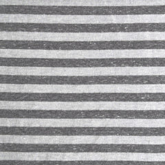 Double Face Jersey Knit Stripe Charcoal/White - Sold Out - Style Maker Fabrics