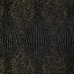 Metallic Geometric Double Knit Black/Gold SY - Sold Out - Style Maker Fabrics