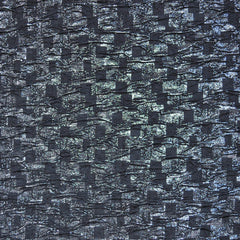 Textured Double Knit Metallic Check Black/Gunmetal - Fabric - Style Maker Fabrics