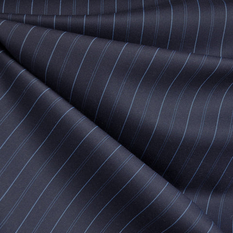 Pin Stripe Suiting Navy/Blue