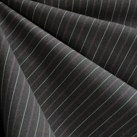 Pin Stripe Suiting Grey/Pink