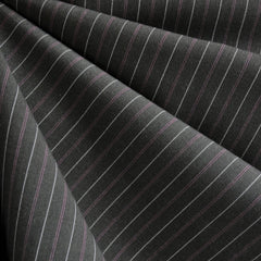 Pin Stripe Suiting Grey/Pink - Fabric - Style Maker Fabrics