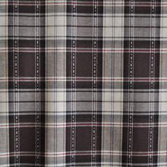 Stitched Plaid Shirting Brown/Tan - Fabric - Style Maker Fabrics
